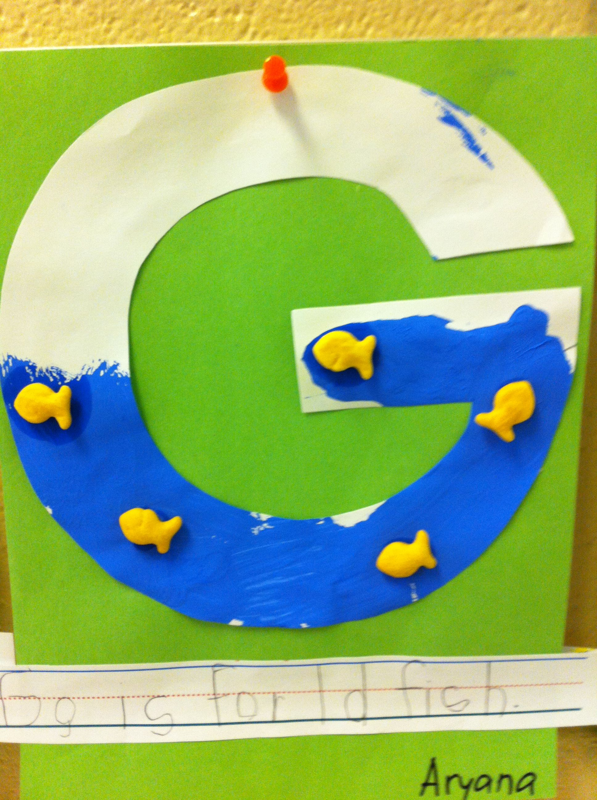 G Is For Goldfish Letter G Activity