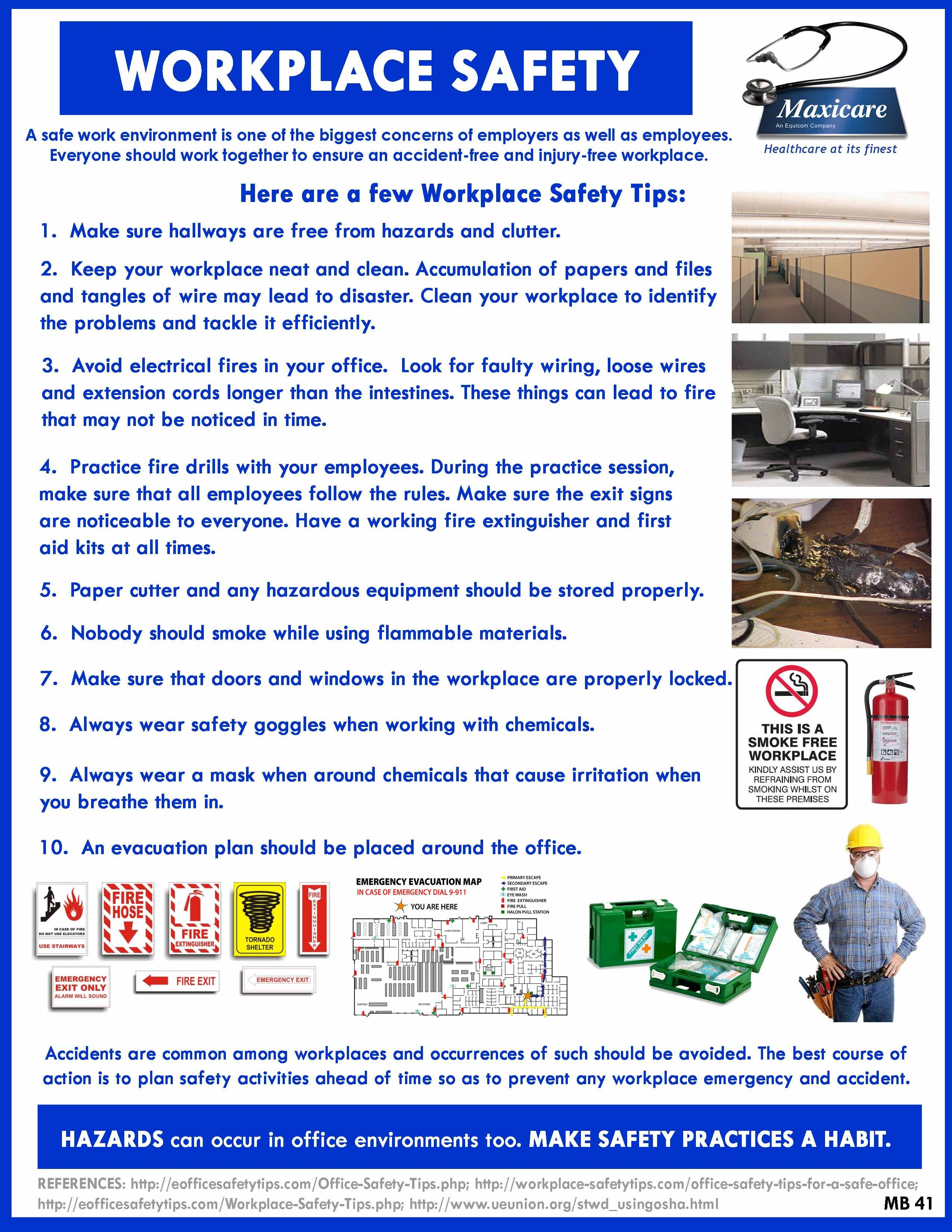 Safety in the workplace Safety first Pinterest