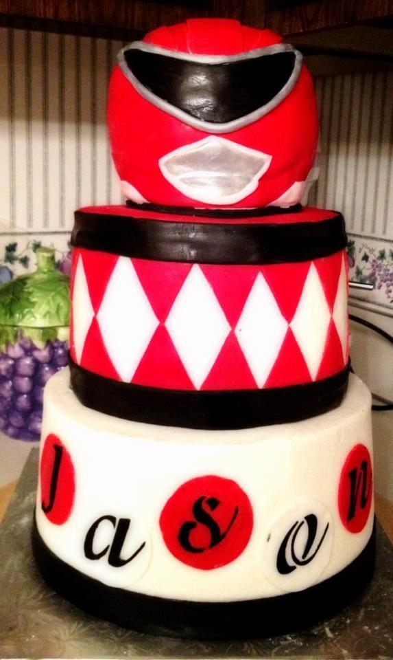 Red Power Ranger Cake Cakes Pinterest Power Ranger