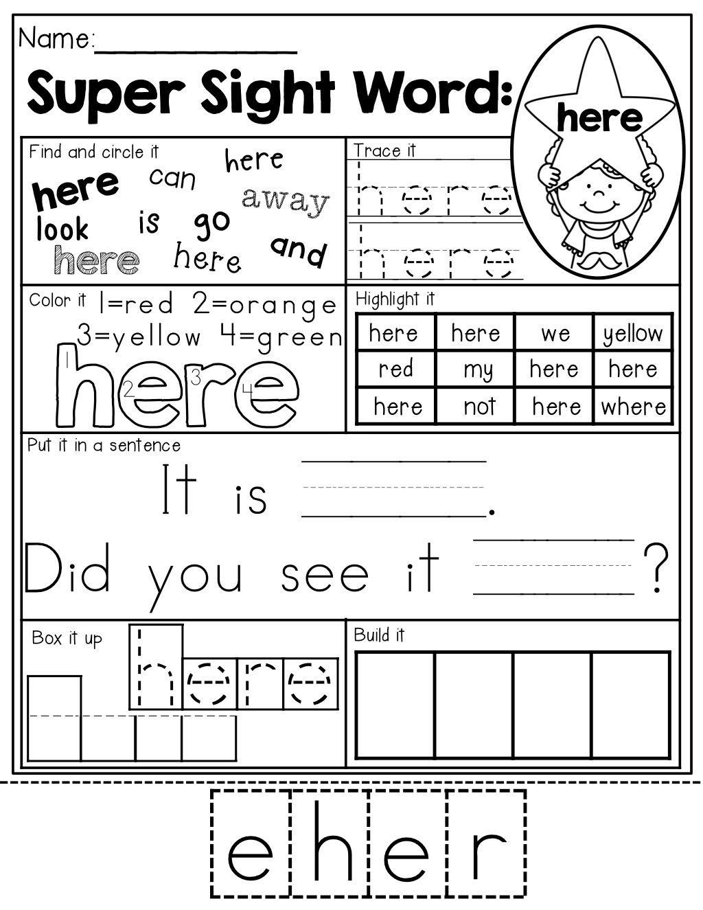 Sight Word Practice 7 Different Ways To Practice Each