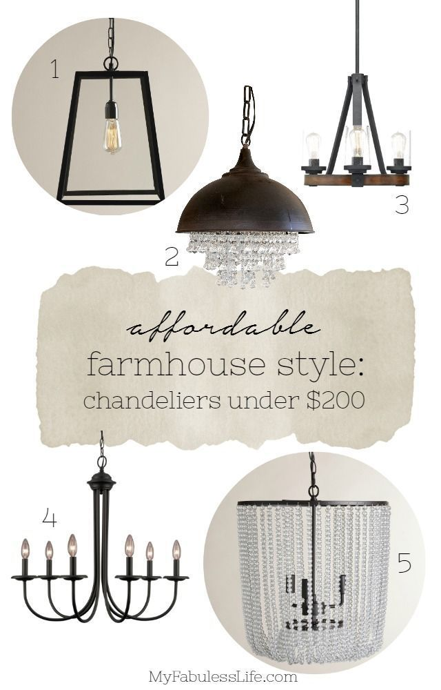 Get The Farmhouse Look For Less With Inexpensive Lighting Five Beautiful Style