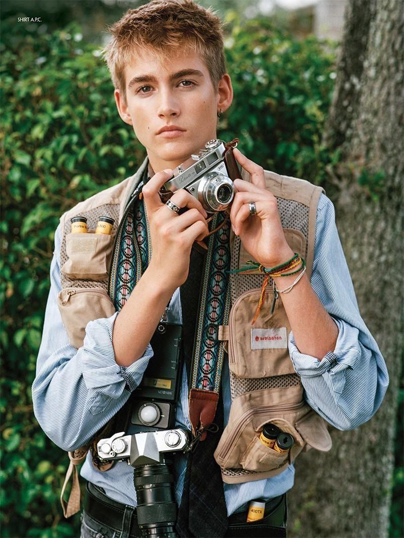 Cindy Crawford's Son Presley Gerber Stars in CR Fashion