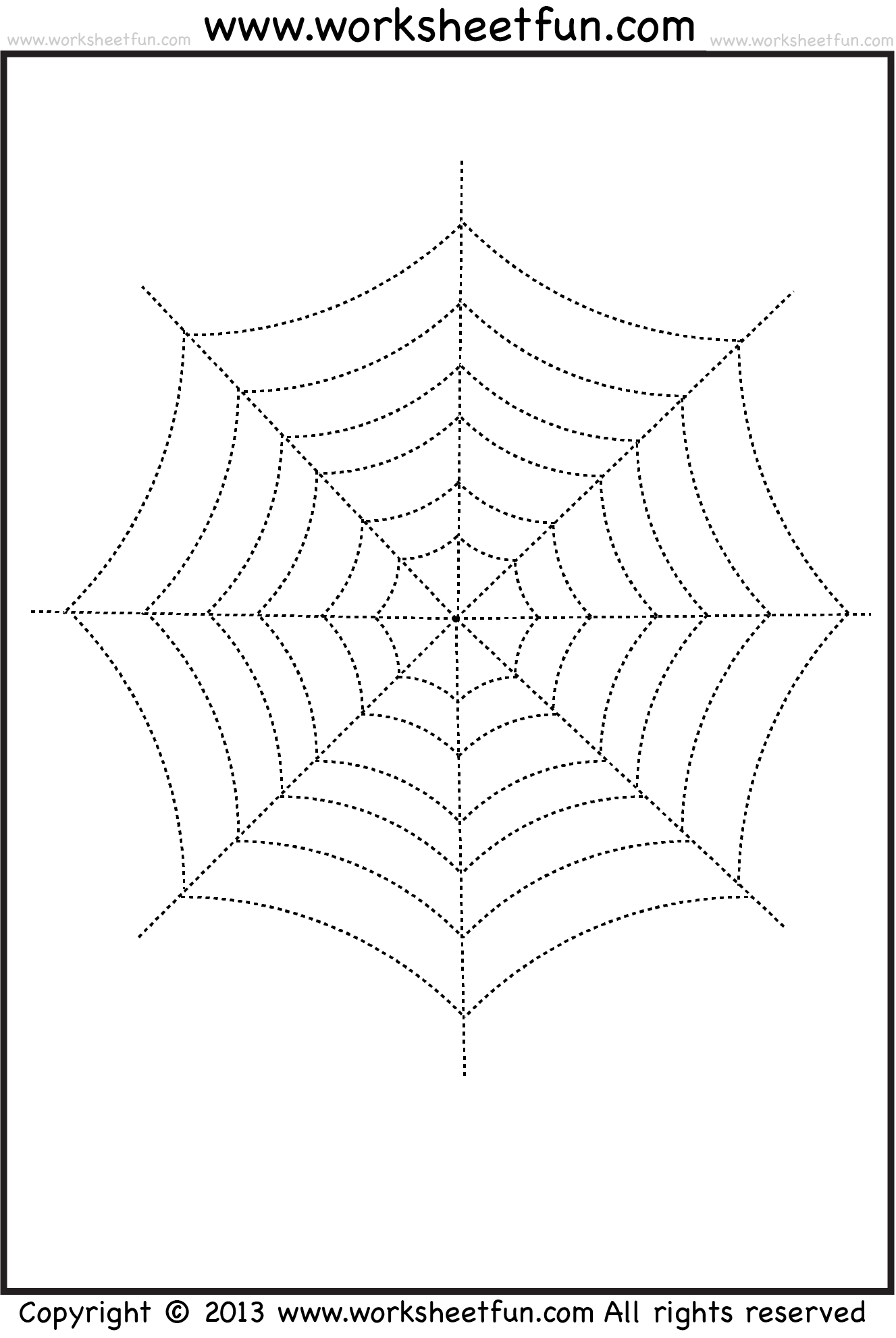 Halloween Tracing And Coloring Sheets