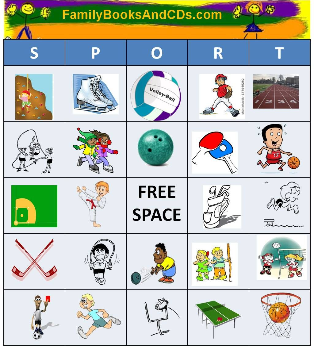 Sport Bingo Everyone Loves Bingo Have Fun Calling Out