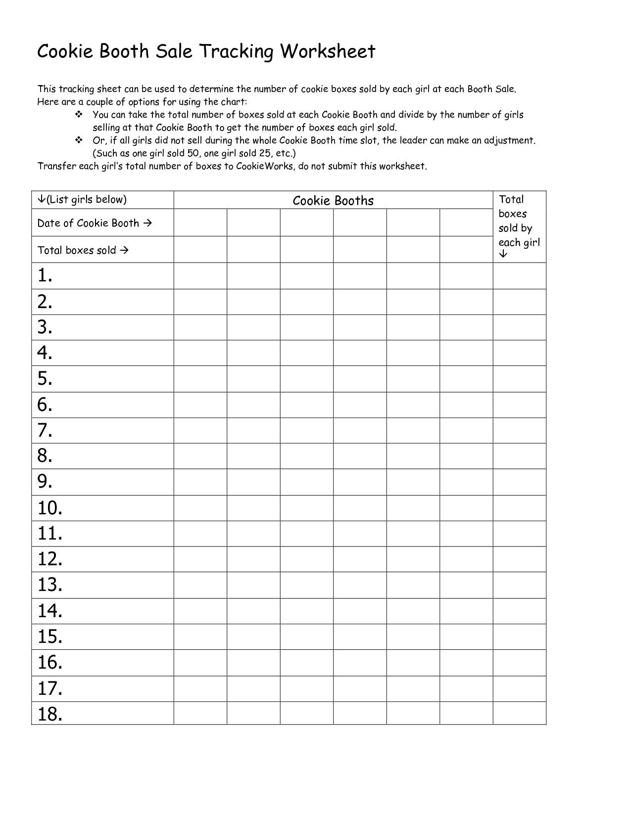 Girl Scout Cookie Templates