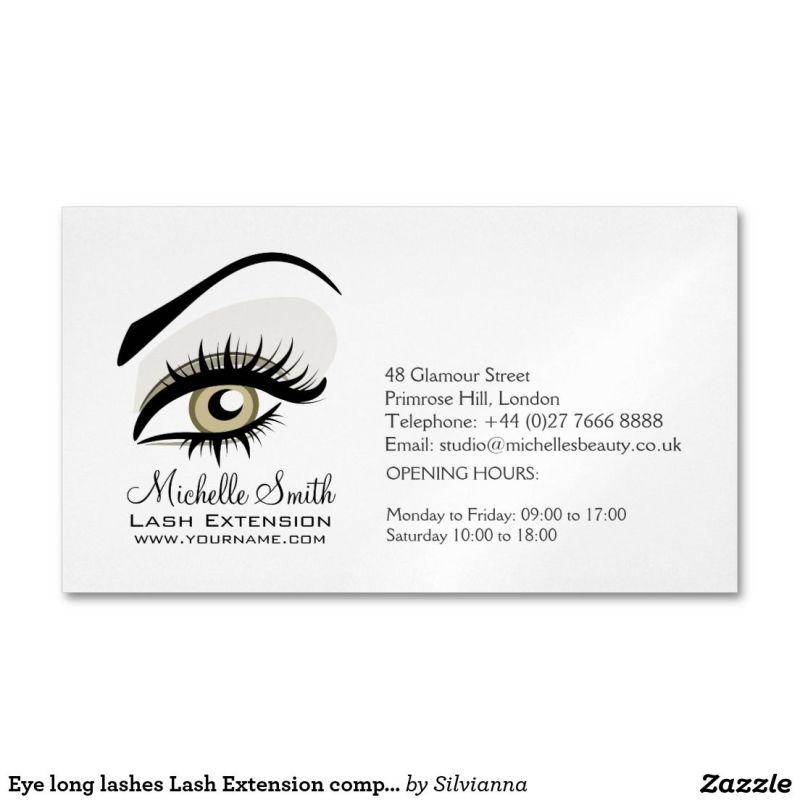 Eye long lashes lash extension company branding business