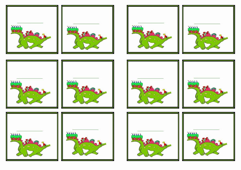 Free Printable Dinosaur Themed Name Tags