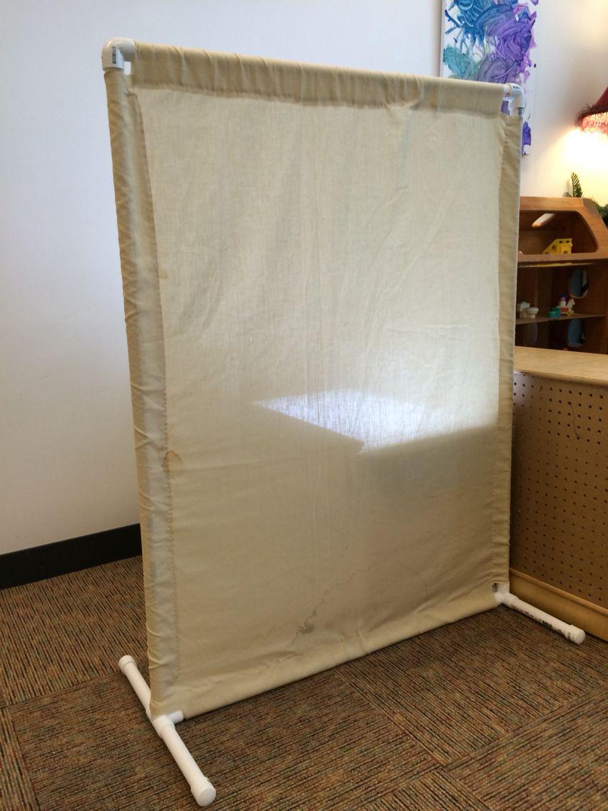 PVC and old sheet room divider 4'x3' Josh Baxter's