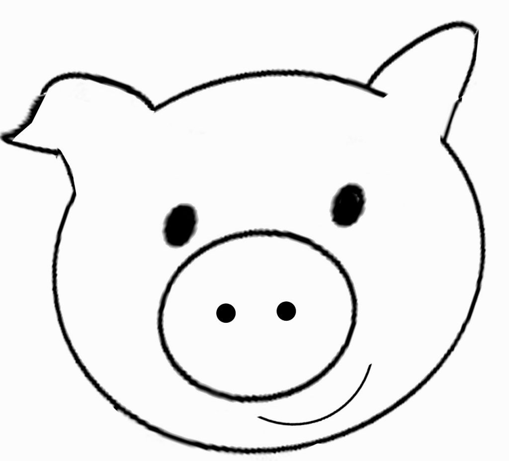 Pig Face Coloring Page