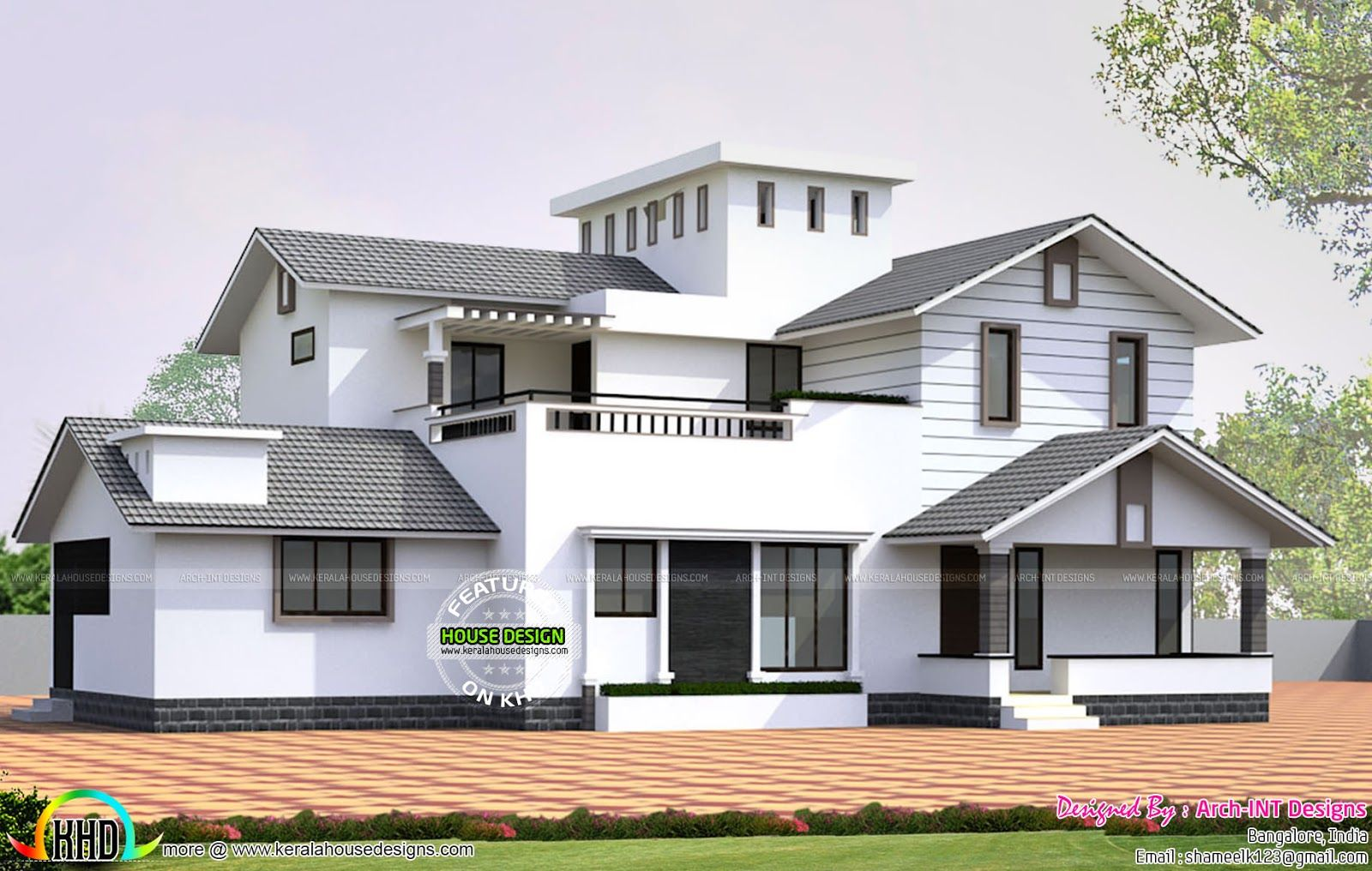 Kerala home design and floor plans House plan by ArchINT