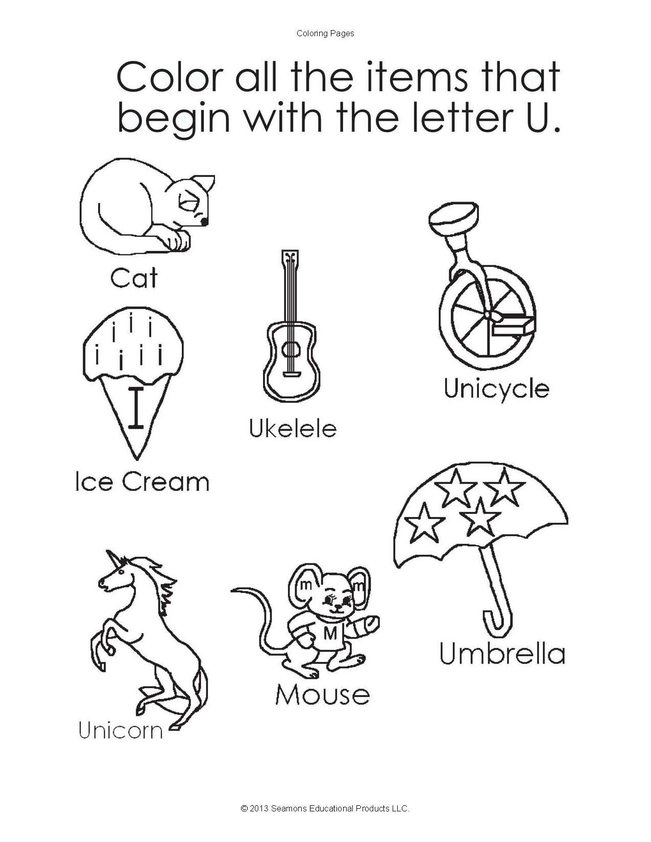 This Activity Sheet Helps Children Learn How To Recognize