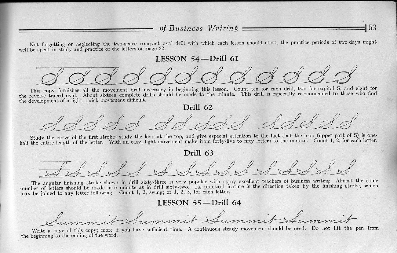 Palmer Method Cursive Handwriting Thinking About