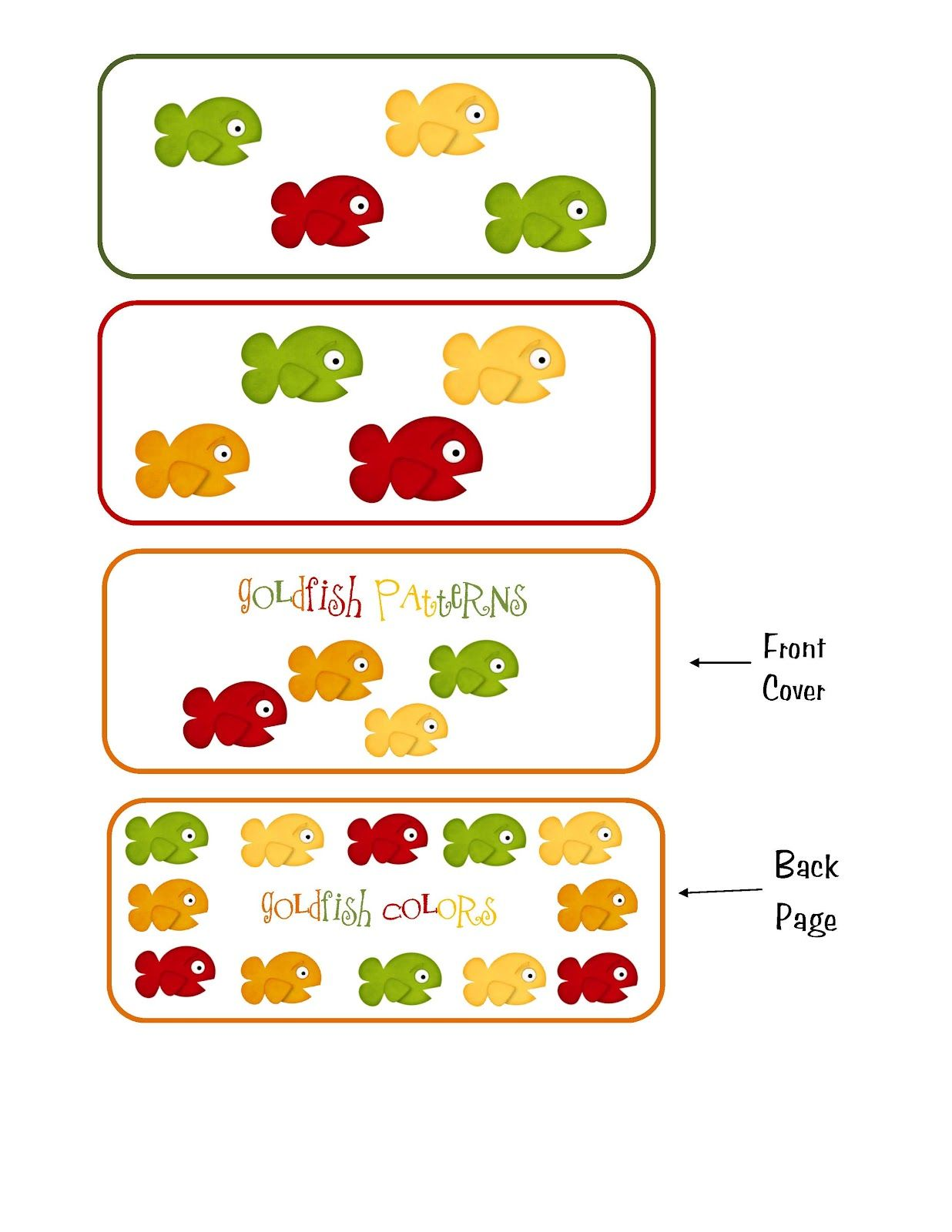 Preschool Printables Goldfish Pattern Printable