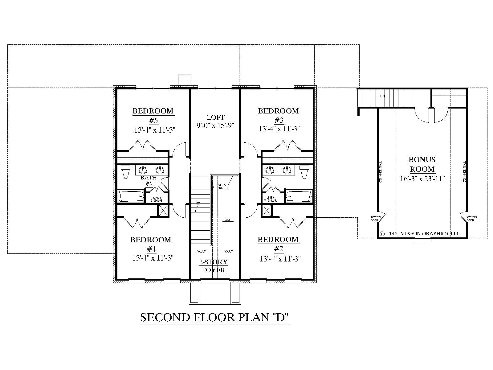 House Plan D Albany D Second Floor
