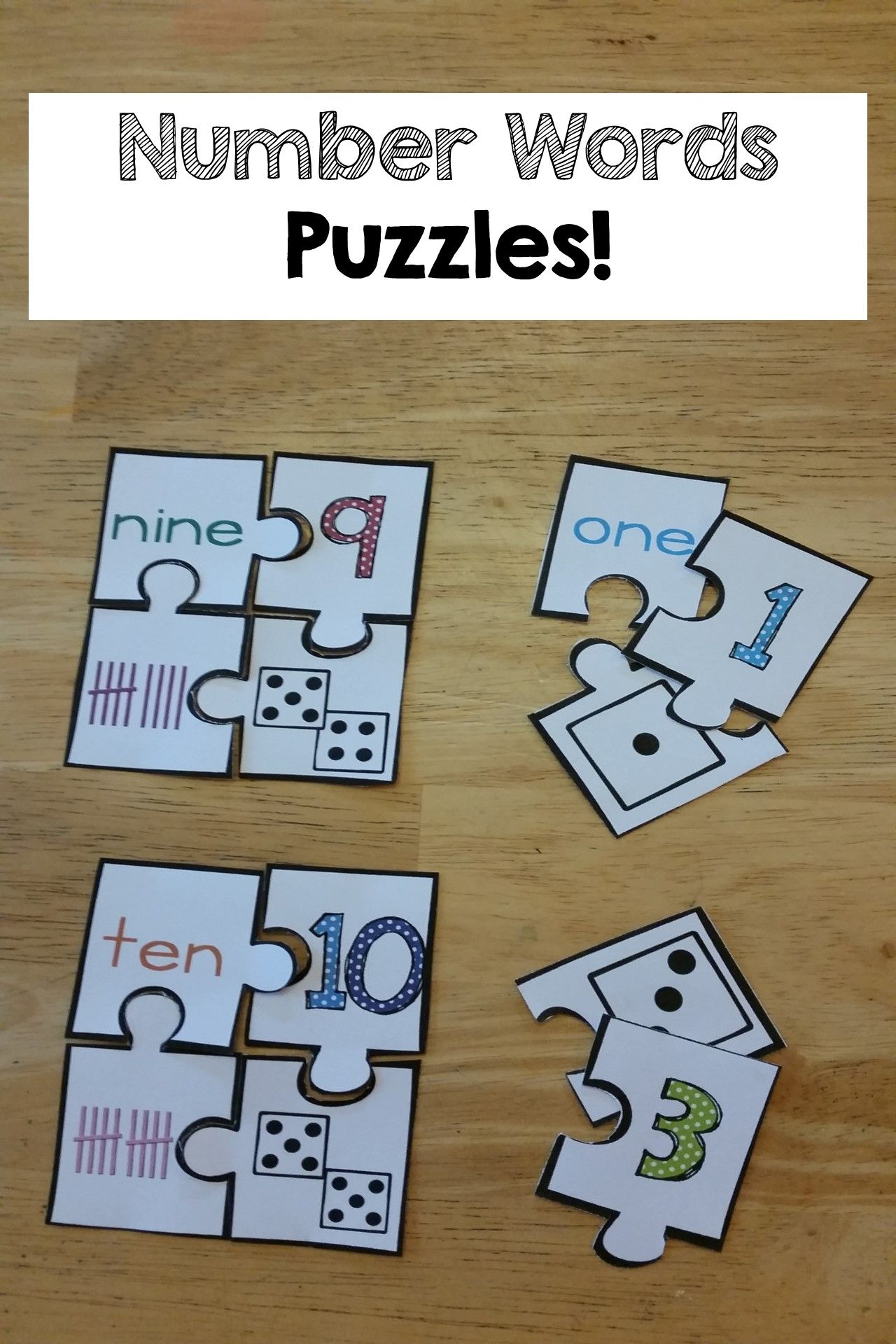 Number Words Amp Number Sense Printables And Activities