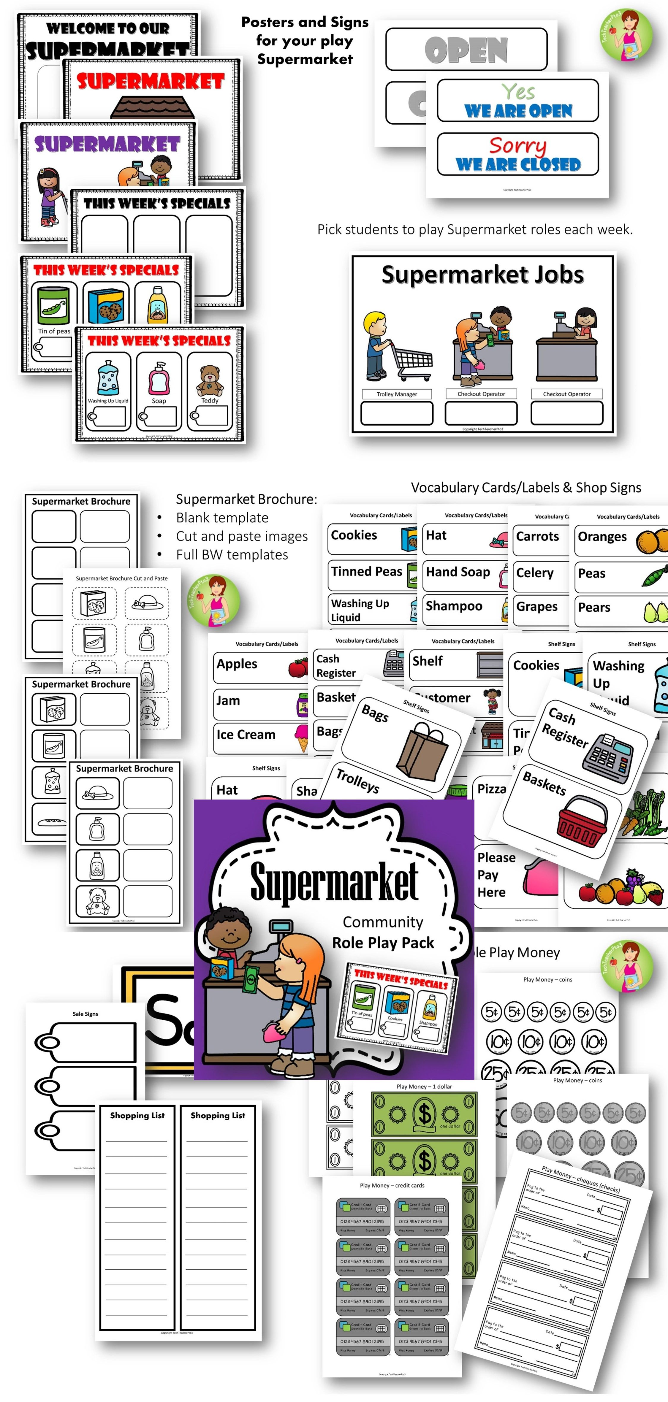 Supermarket Role Play Pack