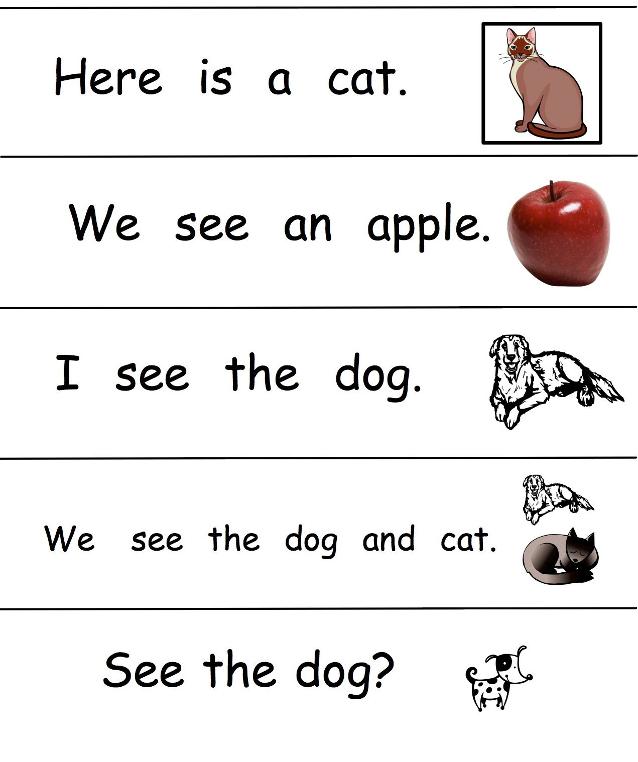 After Being Introduced To The First 5 Sight Words Your Child Can Read A Simple Sentence These
