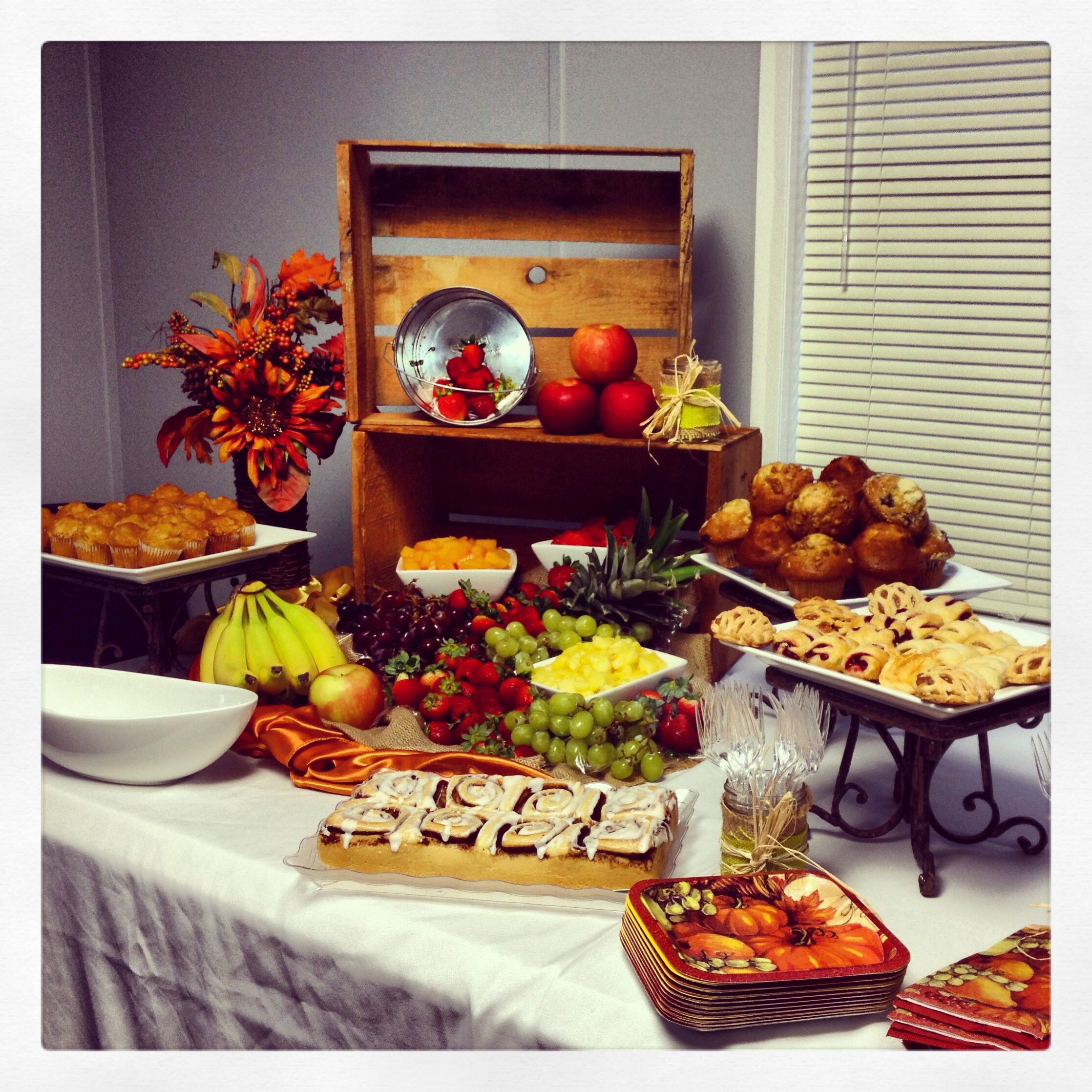 Breakfast display I did for a company's corporate meeting