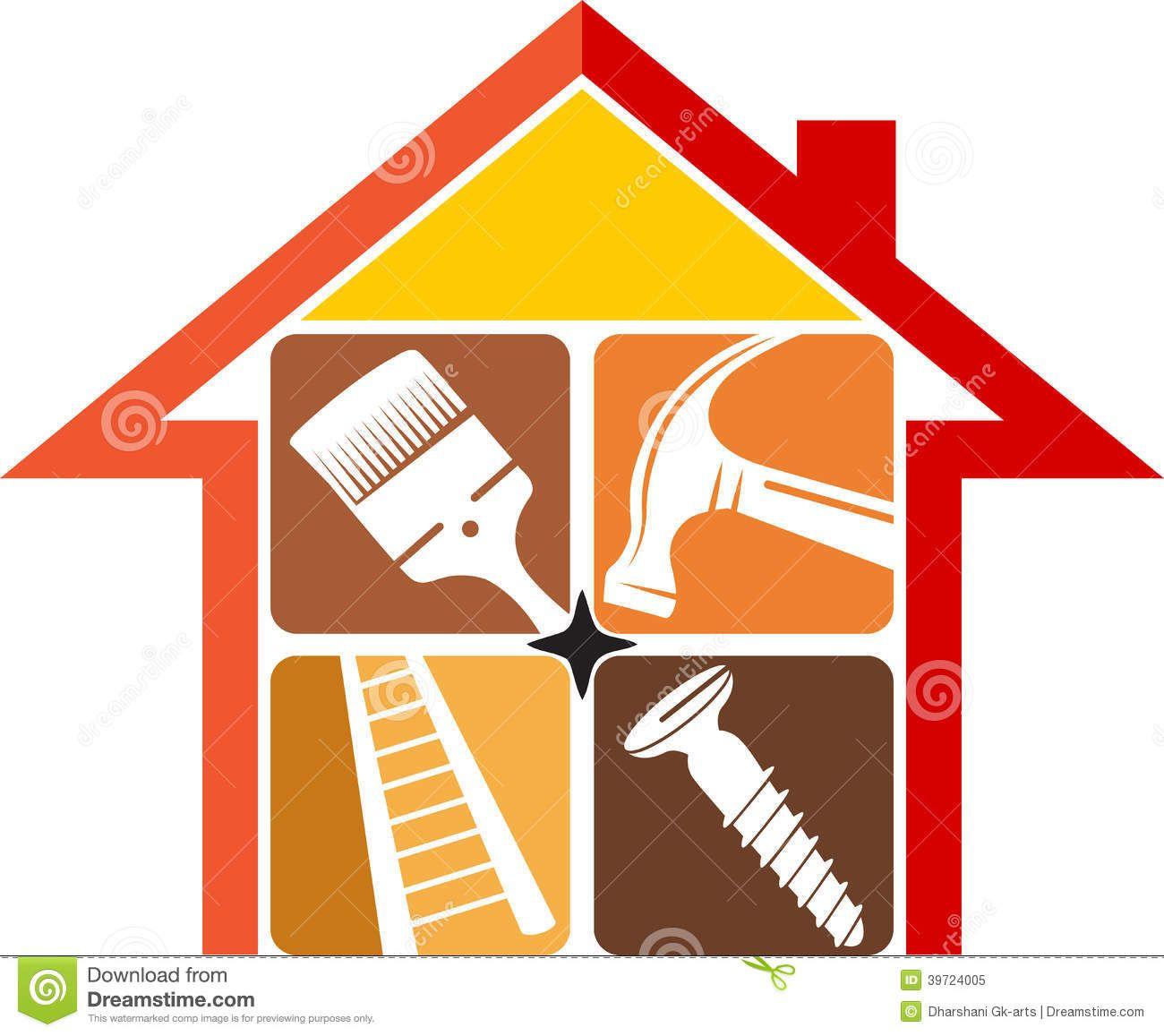 Home Repair Logo Stock Vector Image 39724005 Home