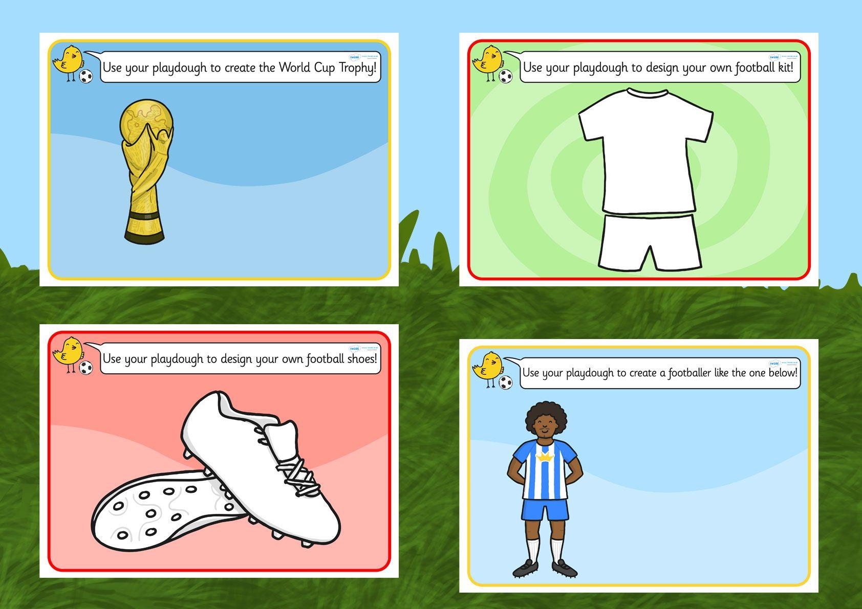 Football World Cup Playdough Mats