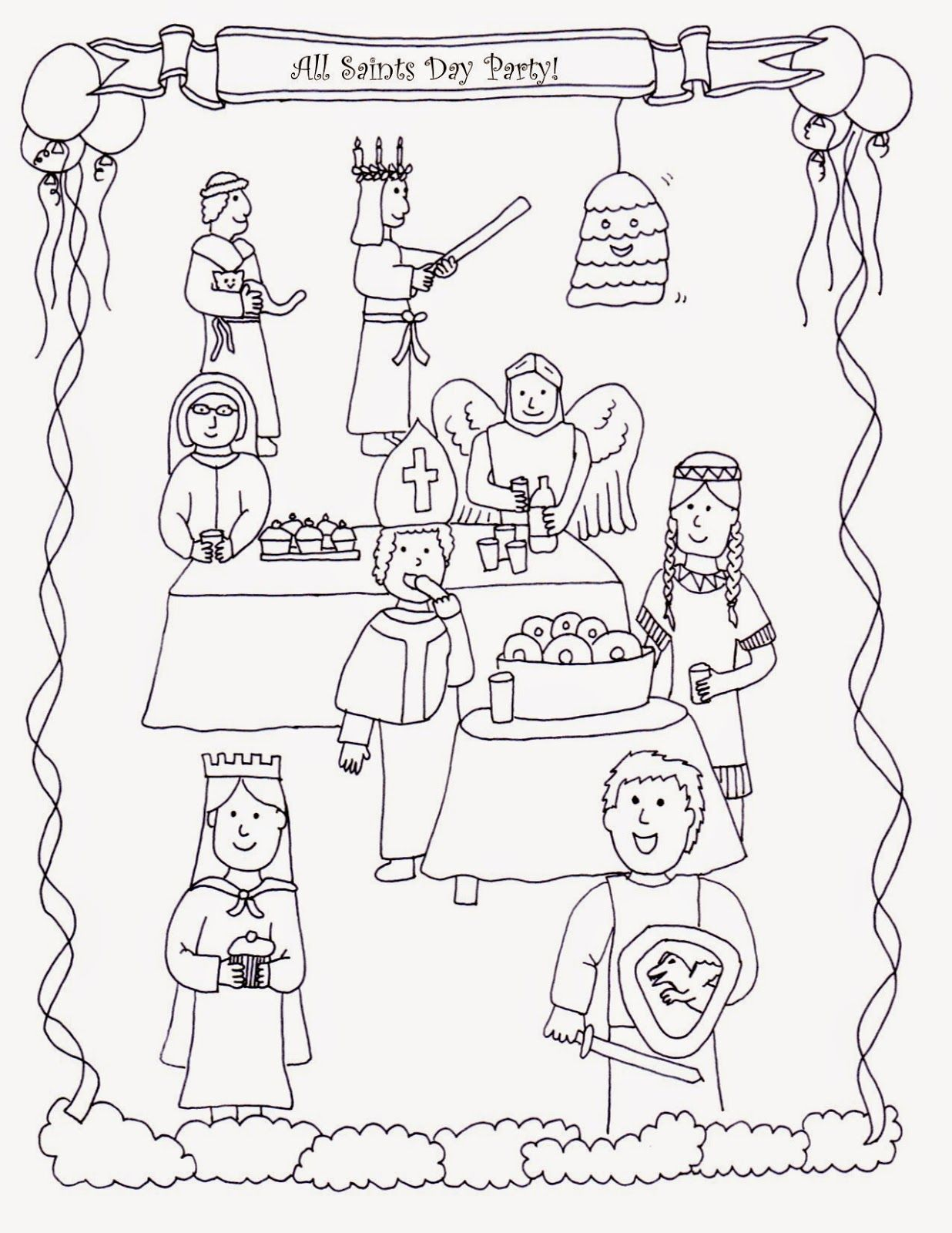 All Saints Day Coloring Pages Wi Ci