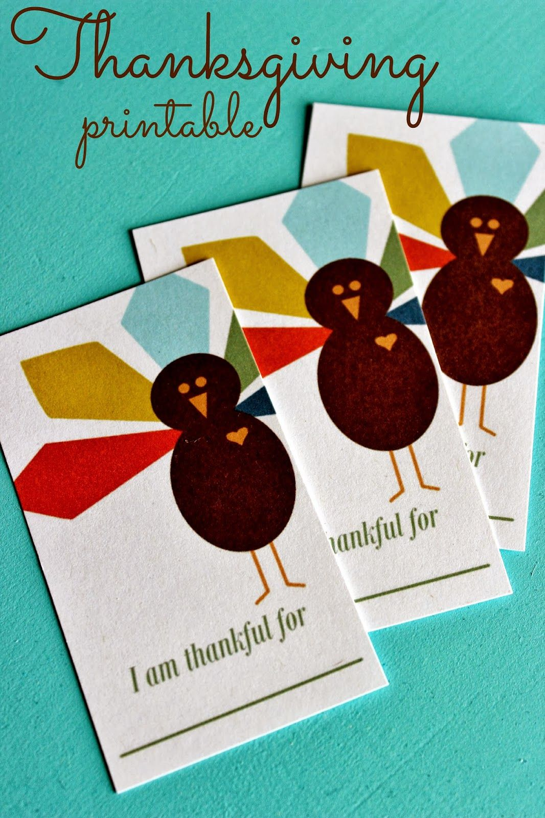 Thanksgiving Activity I Am Thankful For Printable Cards