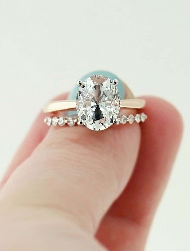 Simple And Minimalist Oval Diamond Cut Engagement Ring Tear Drop: Drop Oval Wedding Ring At Websimilar.org