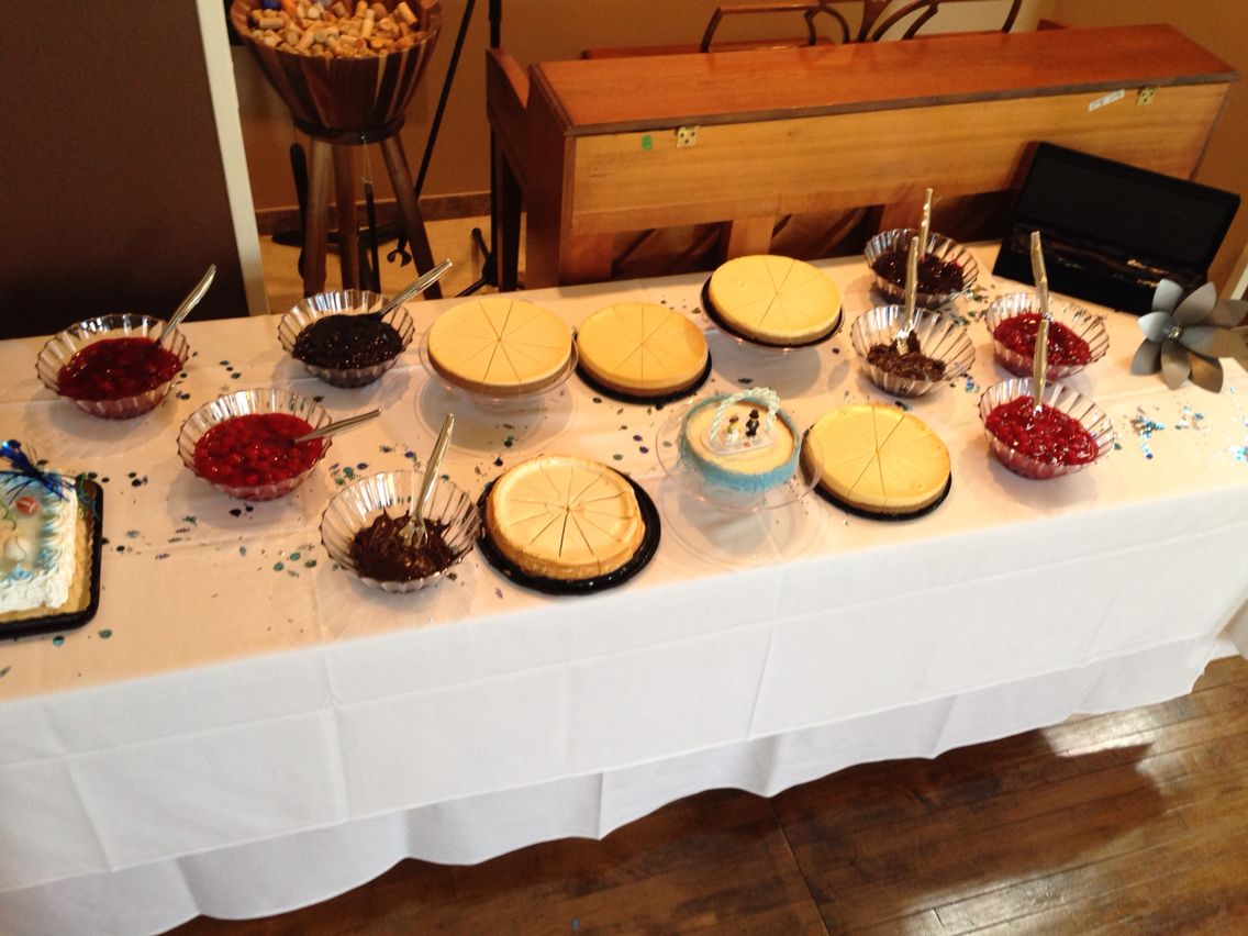 A Cheesecake Bar From Laura & Tyler's Wedding At Sepia