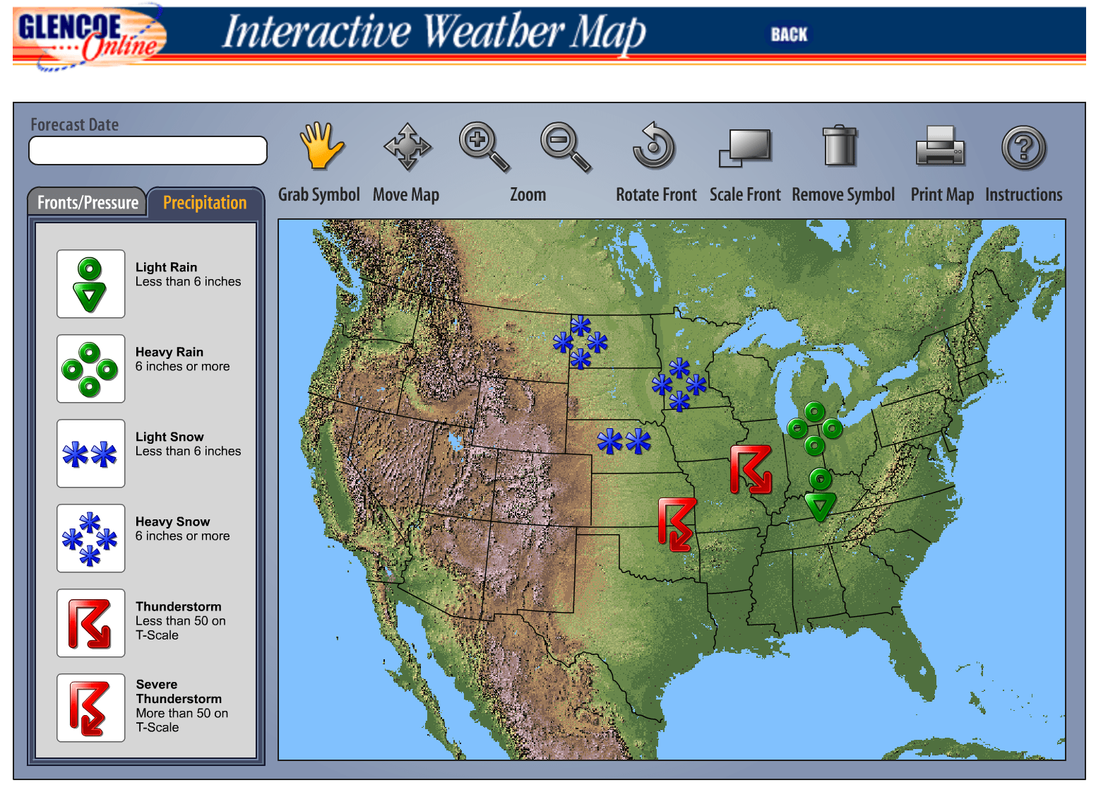 The Techie Teacher Interactive Weather Map