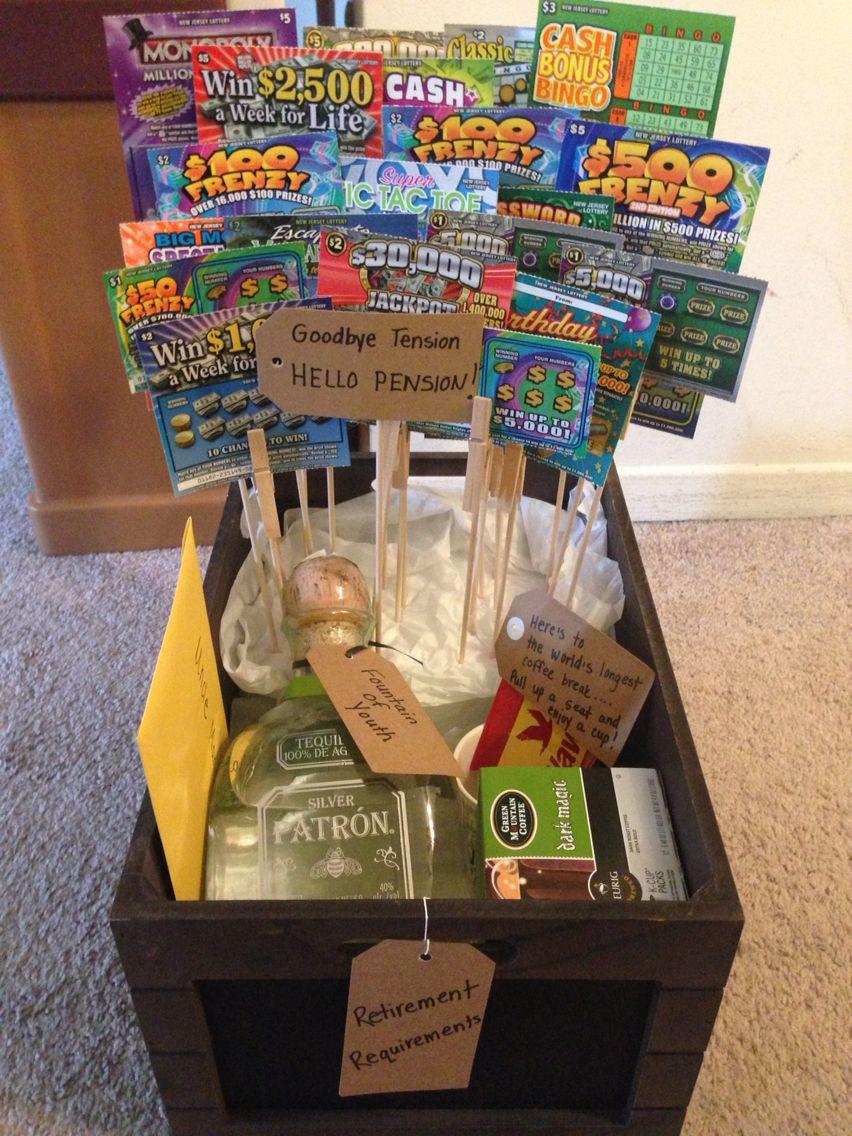Retirement gift basket diy craftsgifts pinterest