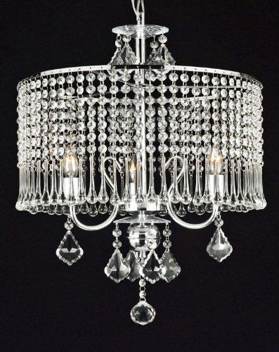 Contemporary 3 Light Crystal Chandelier Chandeliers Lighting With Shade W 16 X