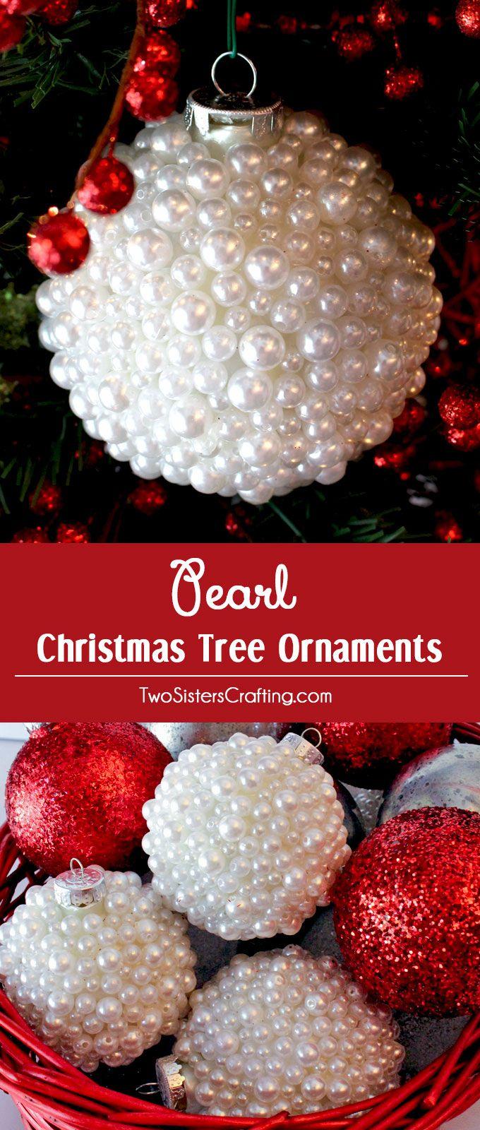 Pearl Christmas Tree Ornaments Unique christmas