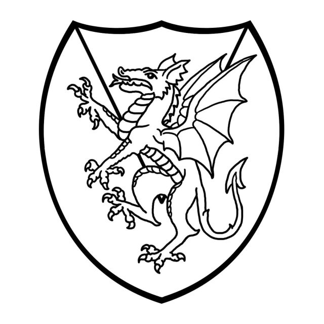 Medieval shield coloring pages