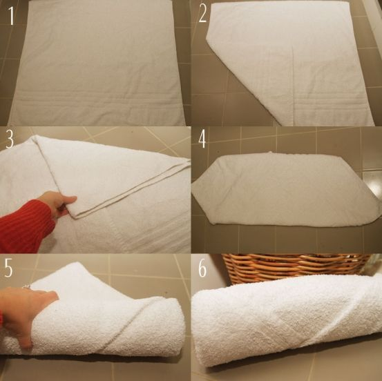 Fold The Towel In Half So That It Makes A Square