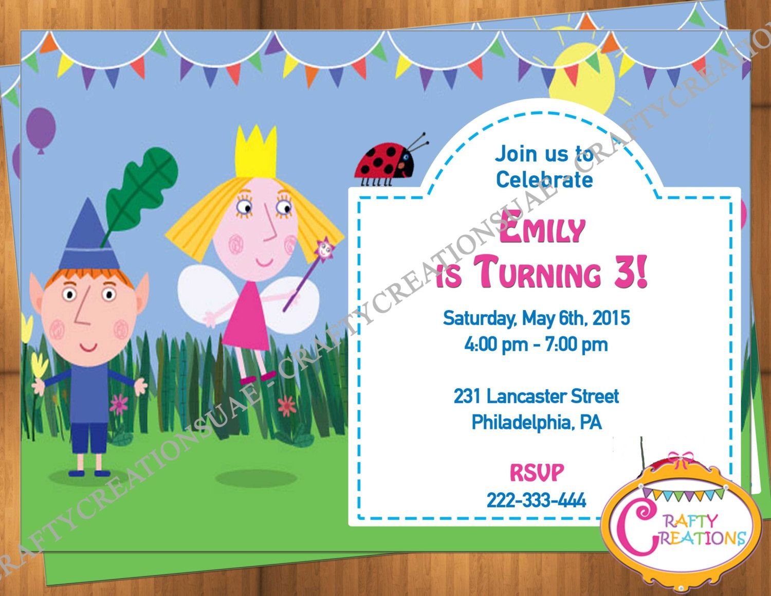Ben And Holly Invitation