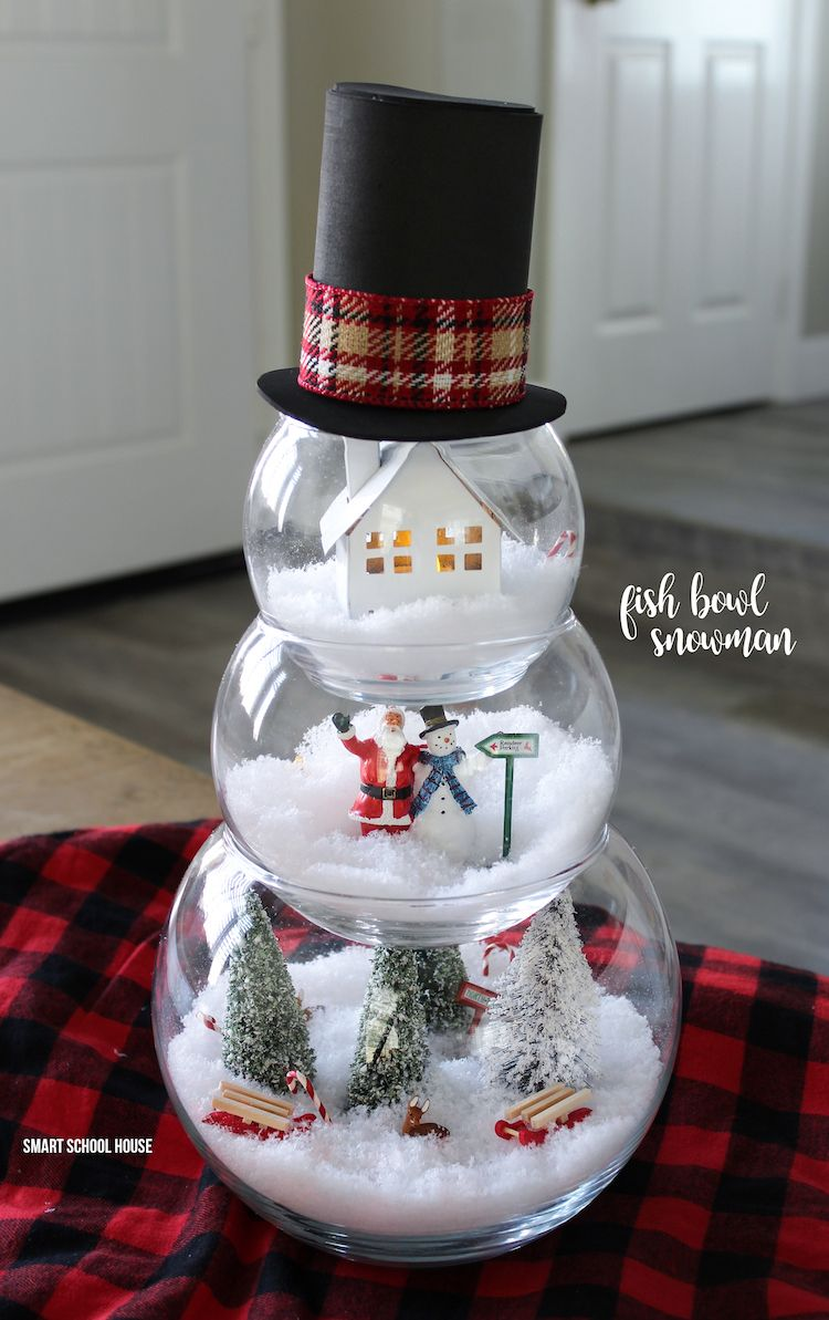 Fish Bowl Snowman DIY craft for a beautiful and unique