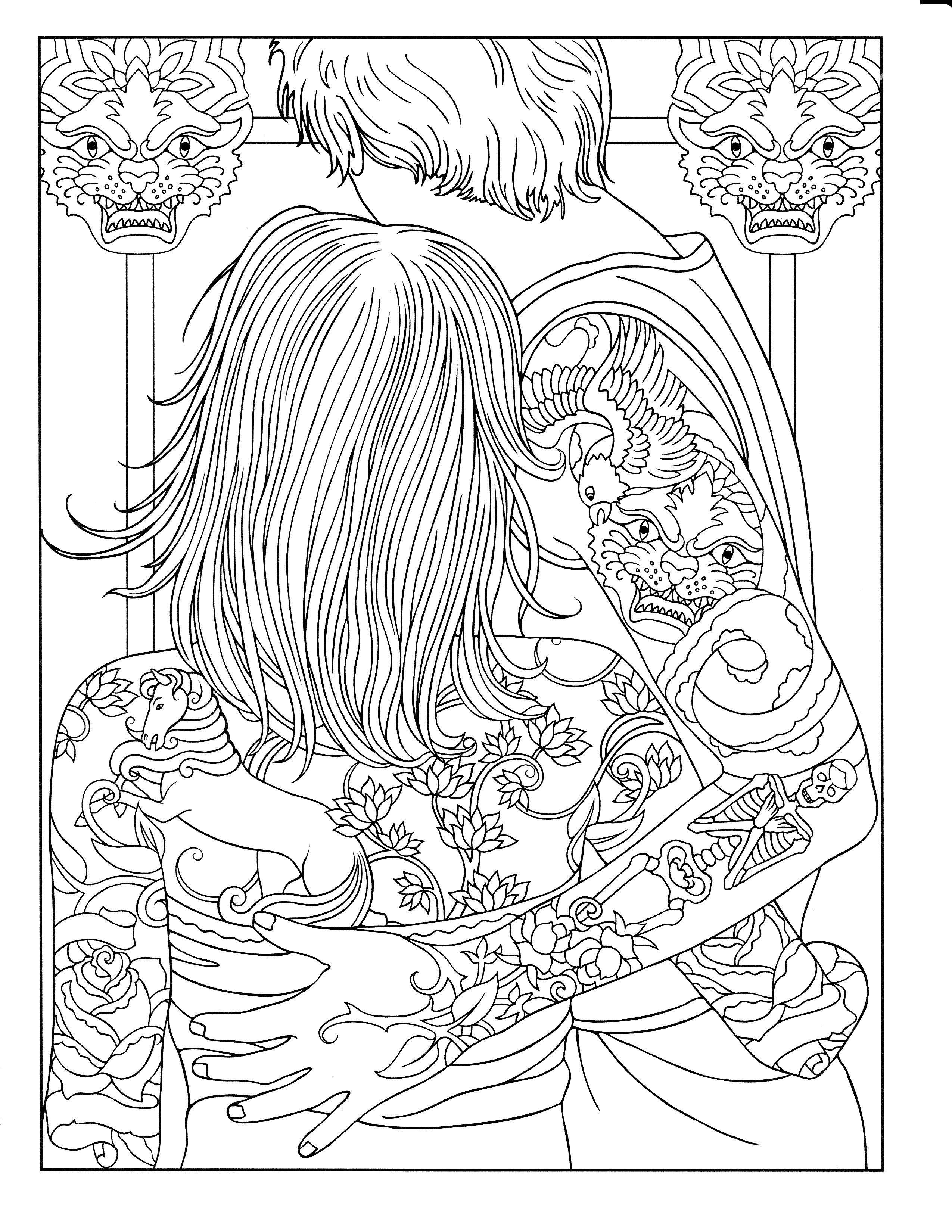 Body Art Tattoo Designs (Dover Design Coloring Books