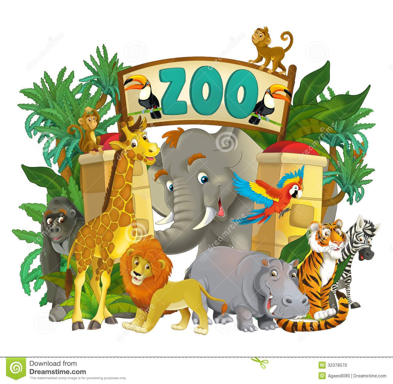 Cartoon Images Of Zoo Animals on Share Online Art