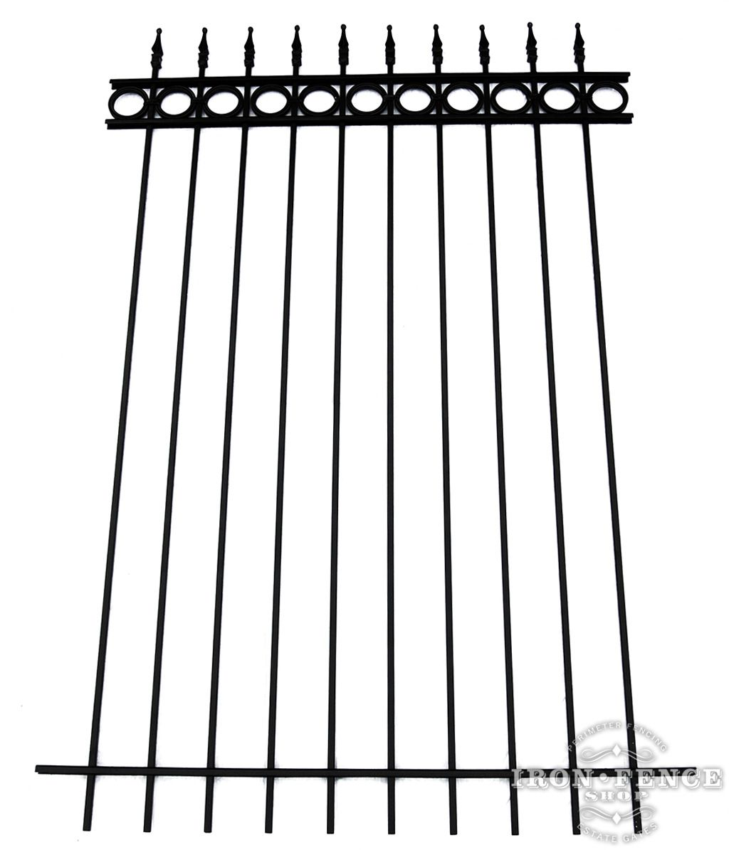 Our 5ft Tall Traditional Grade Wrought Iron Fence With