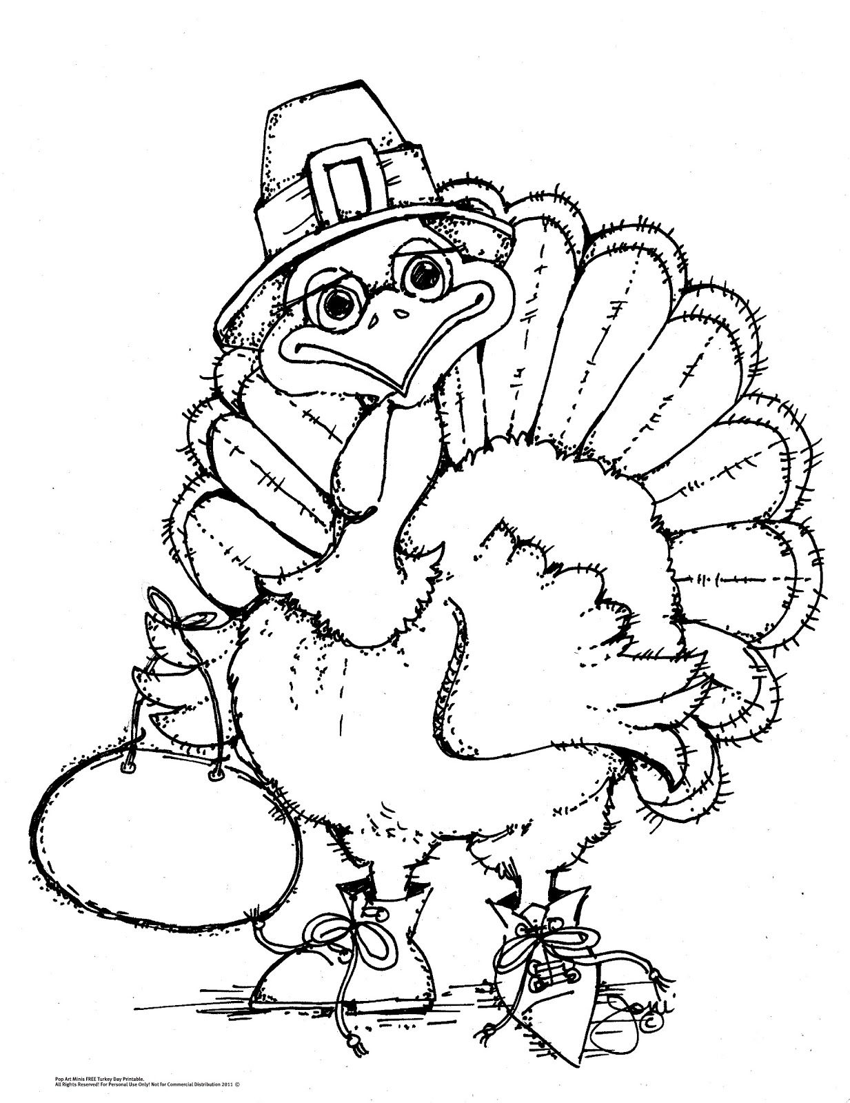 Pop Art Minis Free Printable Thanksgiving Turkey