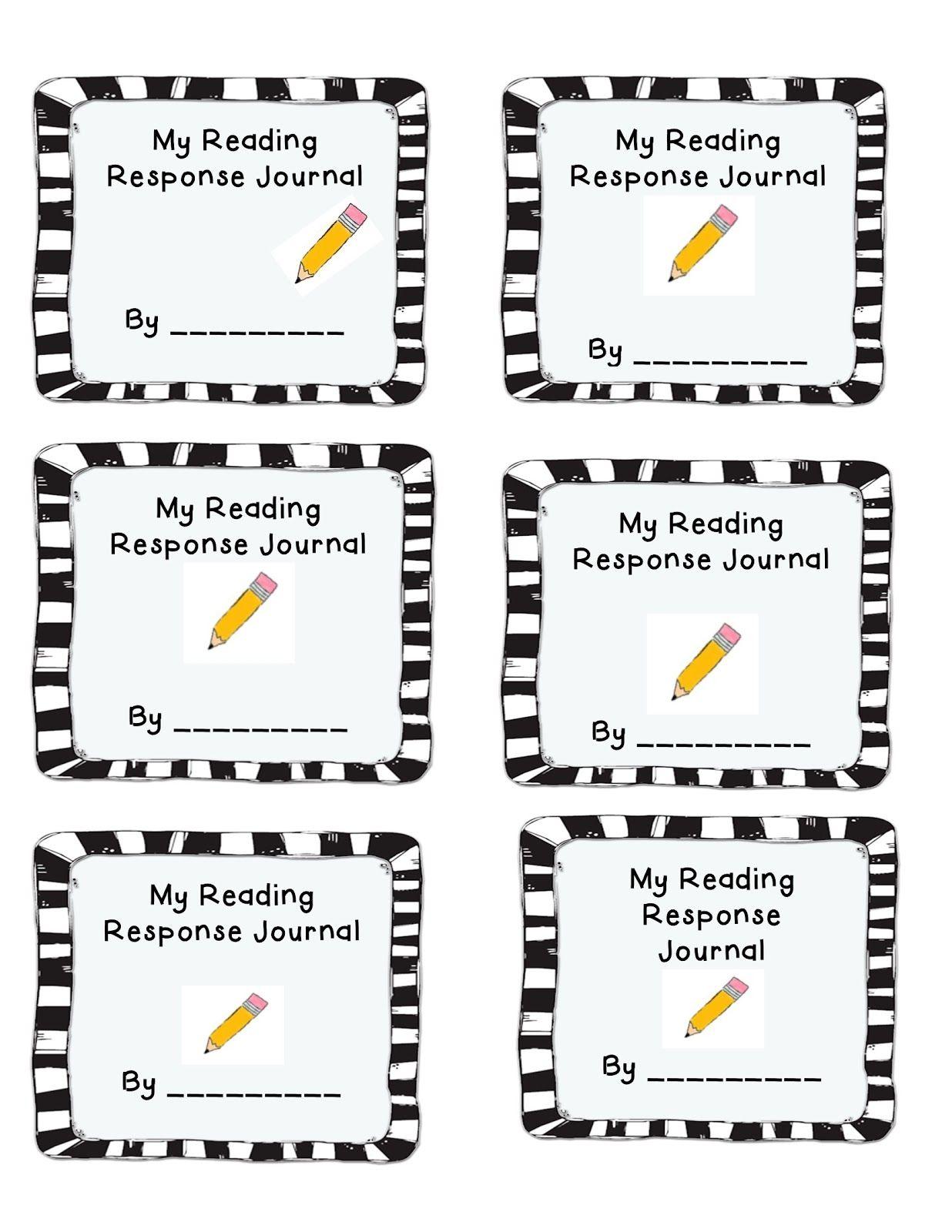 Reader Response Journal Cover