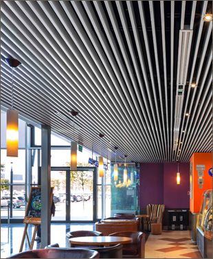 Armstrong Baffles Metal Baffle Ceiling Ceilings And
