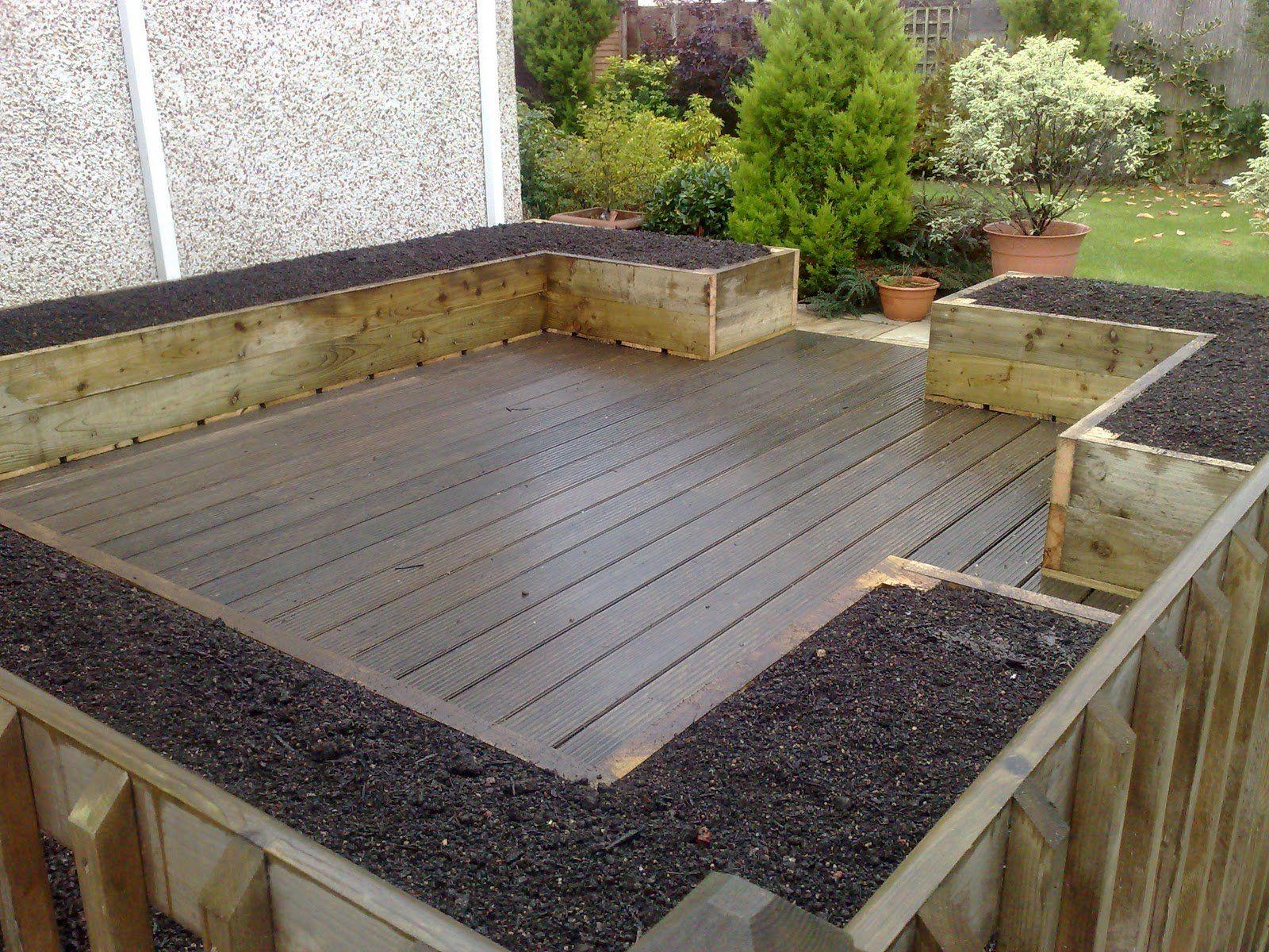 Garden and Patio, Deck And Patio With Hardwood Floor Tiles