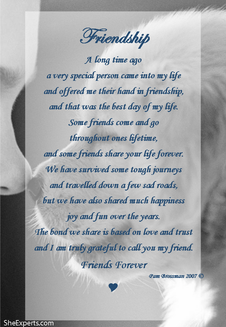 Friendship poem. to repin and share enjoy life