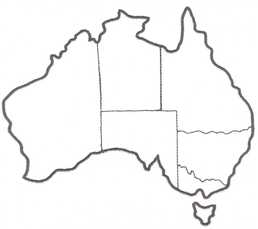 Australia Map For Labeling States Territories And Capital Cities