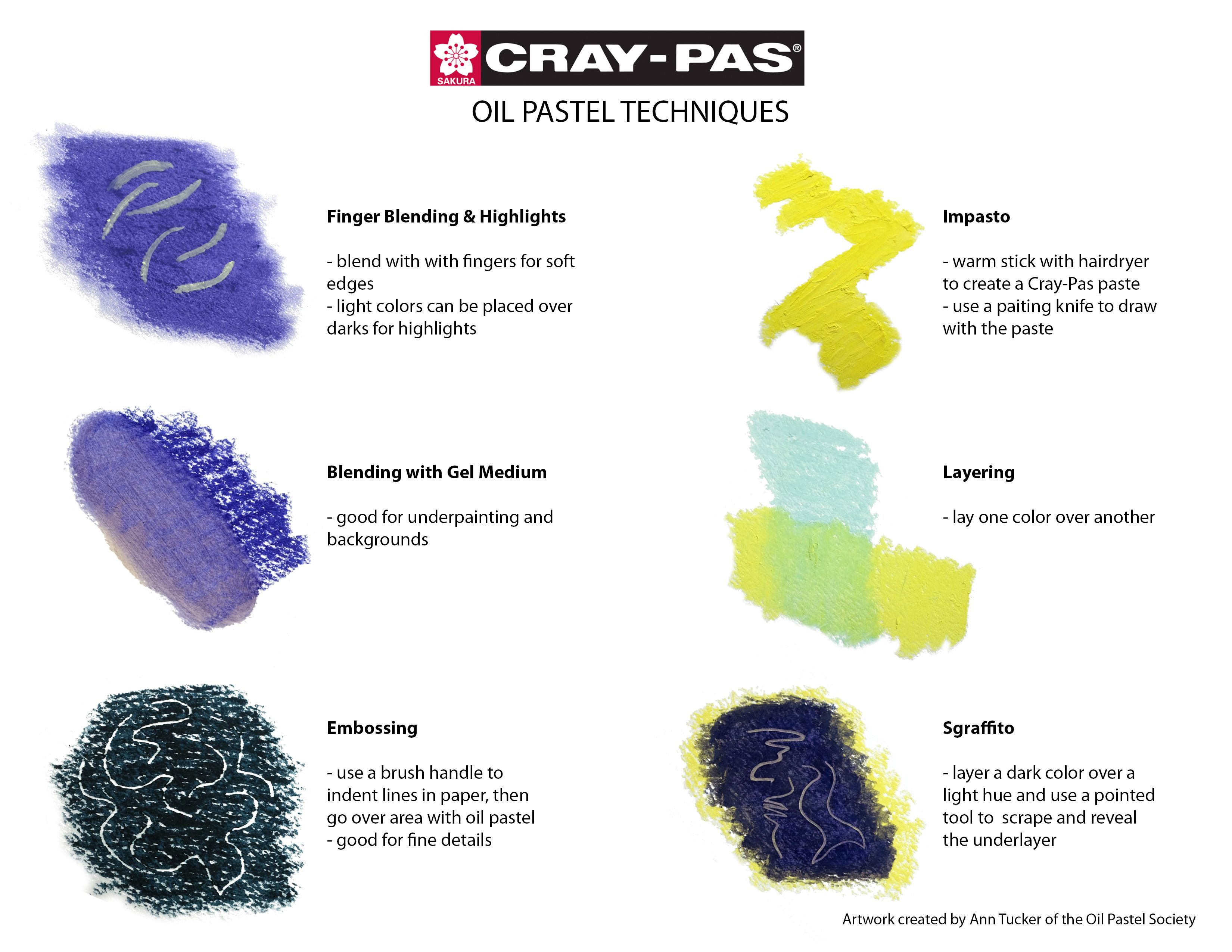 Handy Guide For Cray Pas Oil Pastel Tips Amp Techniques