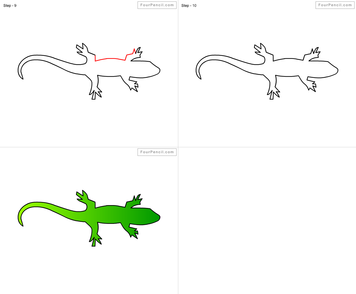 How To Draw Lizard For Kids Step By Step Drawing Tutorial