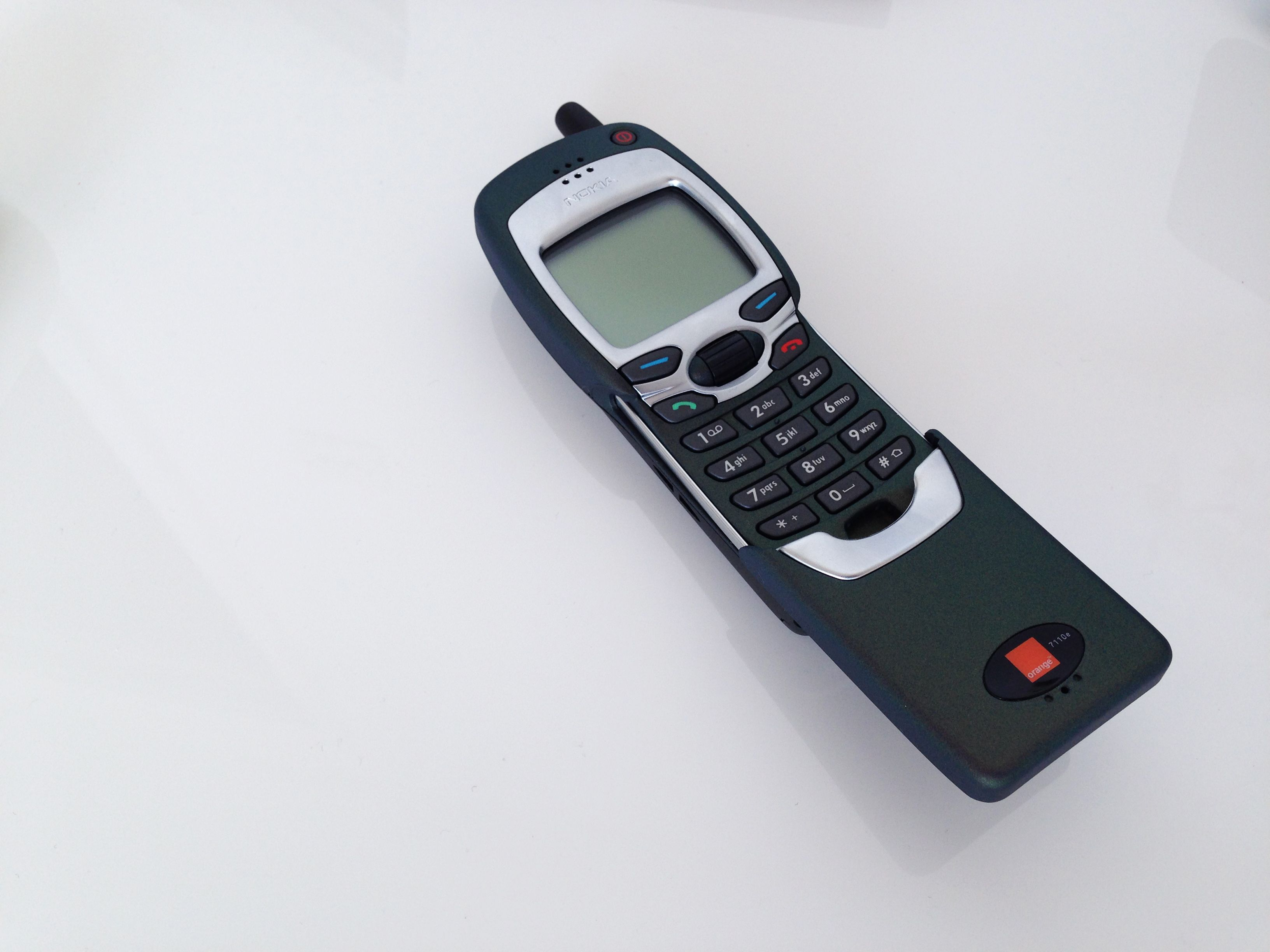My old Nokia 2G mobile phone know as the Matrix phone