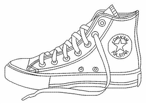 Pages Converse Shoe Embroidery Coloring Shoes