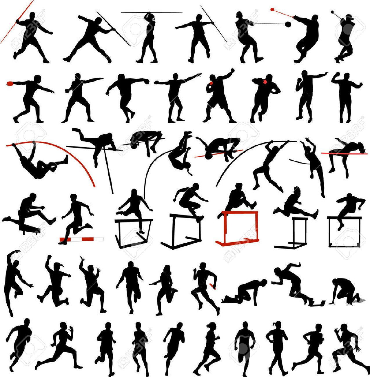 track and field clipart black and white Google Search